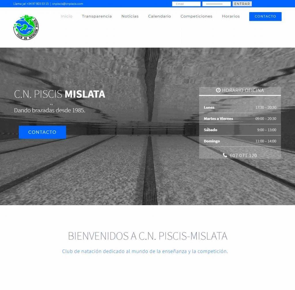 Diseño Web para CN Piscis