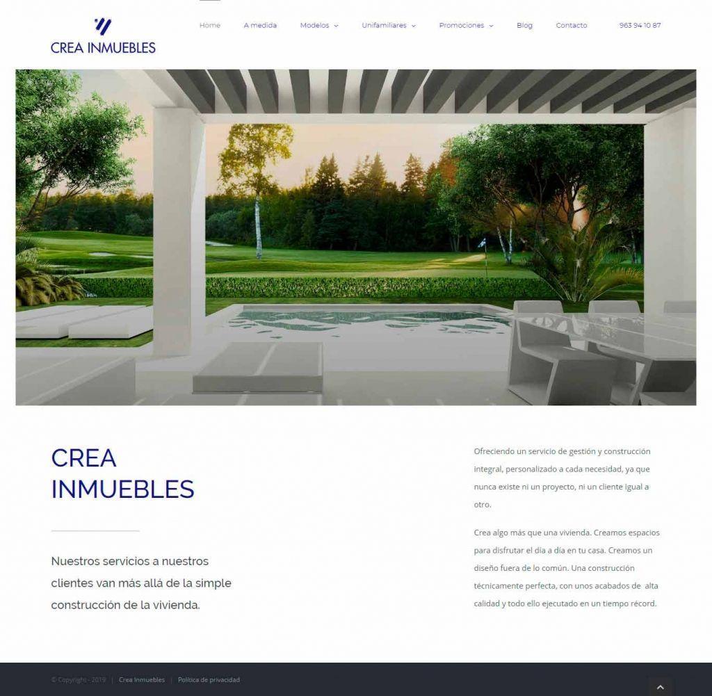 Diseño Web para Crea Inmuebles