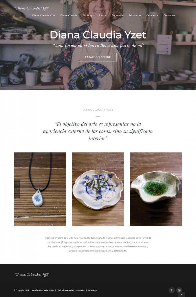 Diseño Web para Diana Claudia Yzet