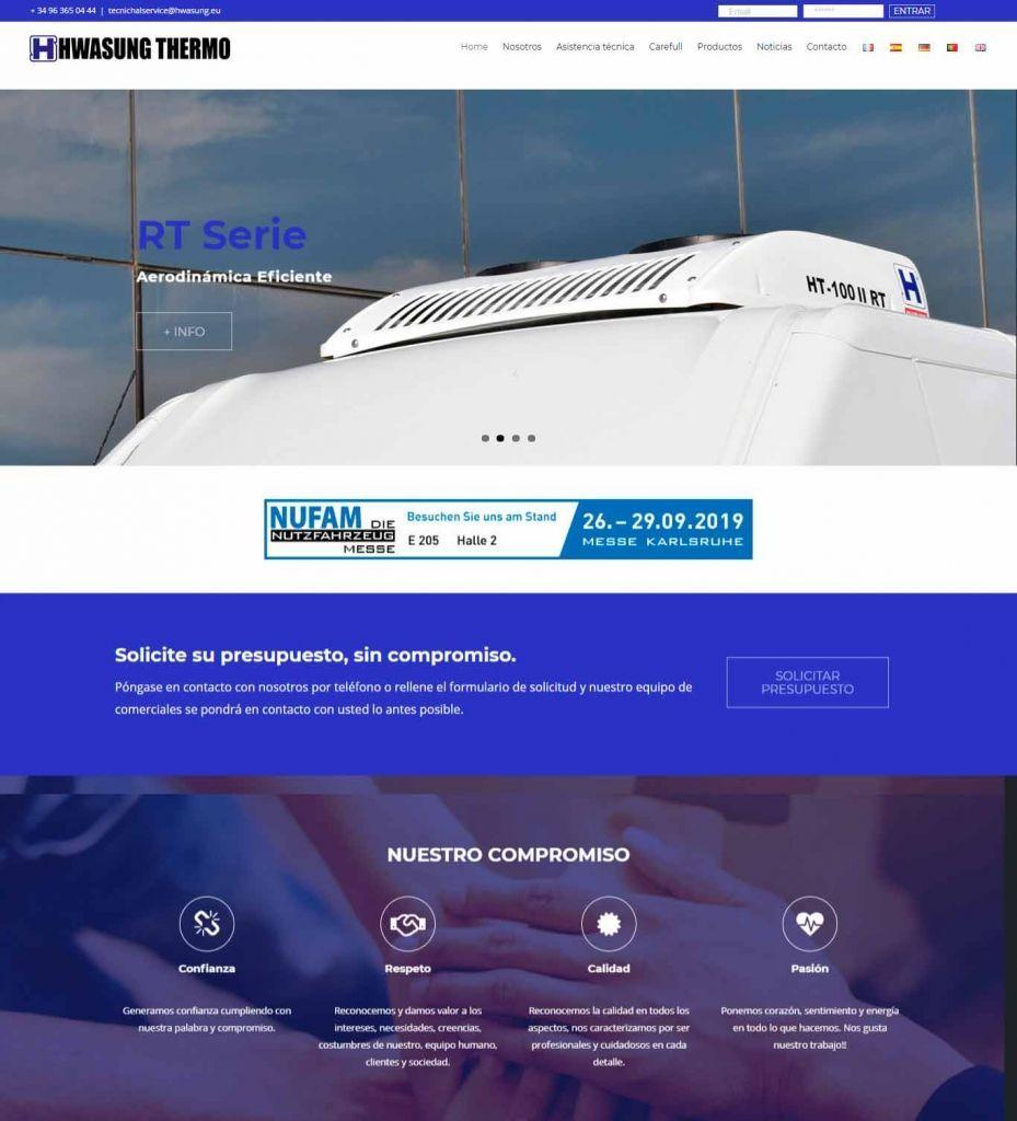 Diseño Web para Hwasung