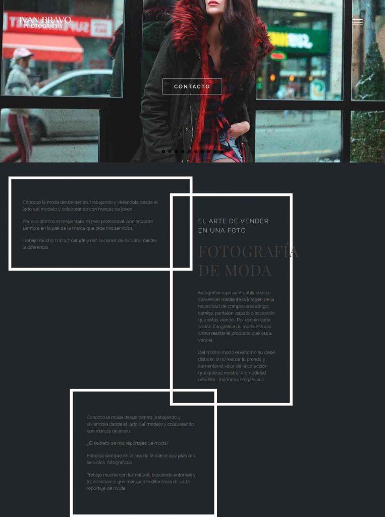 Diseño Web para Ivan Bravo