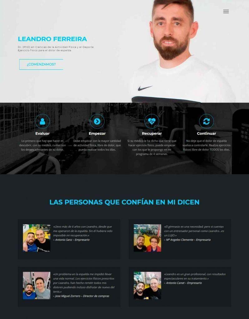 Diseño Web para Leandro Ferreira