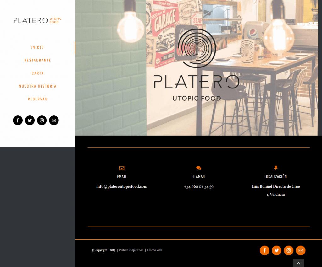 Diseño Web para Platero Utopic Food