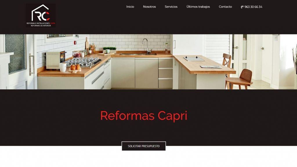 Diseño Web para reformas Capri
