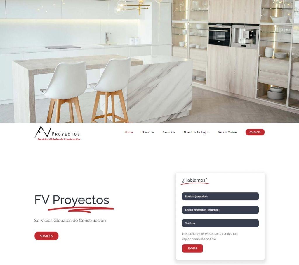 Diseño Web para FV Proyectos